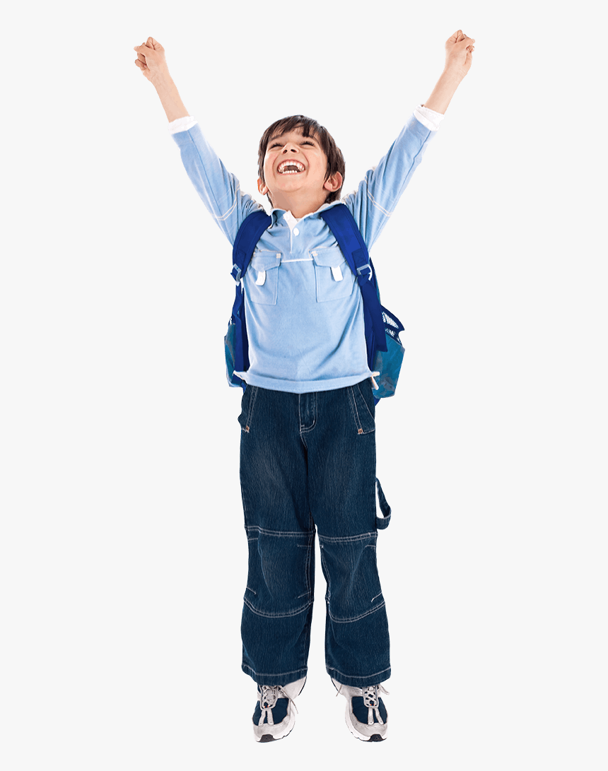 Happy-kid - Boy Hands Up Png, Transparent Png, Free Download