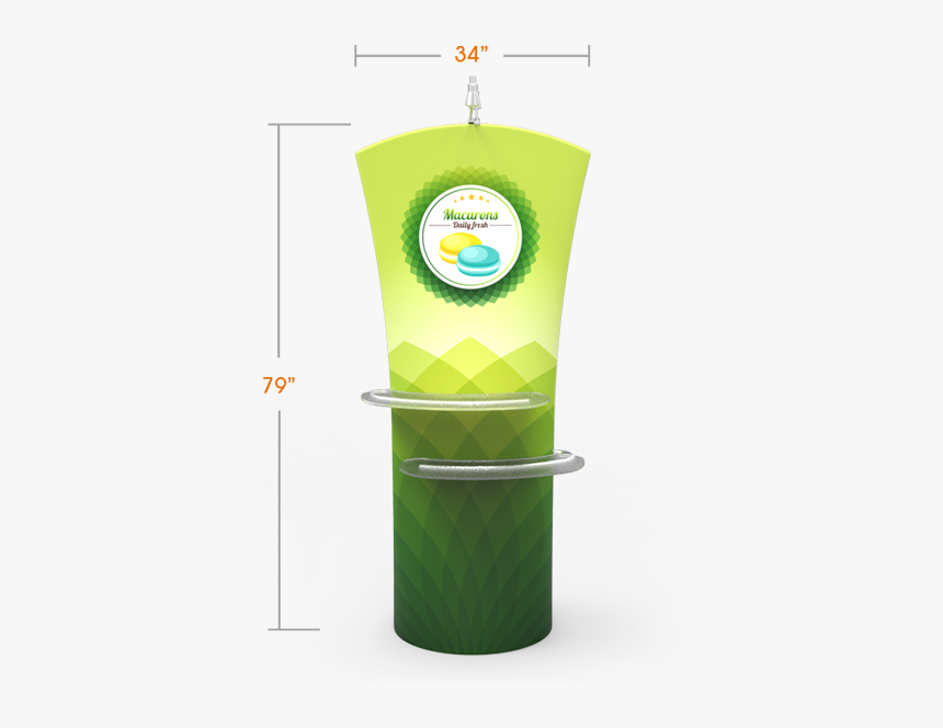 Curved Top Tension Fabric Banner Stand With Arm Shelves - Banner, HD Png Download, Free Download