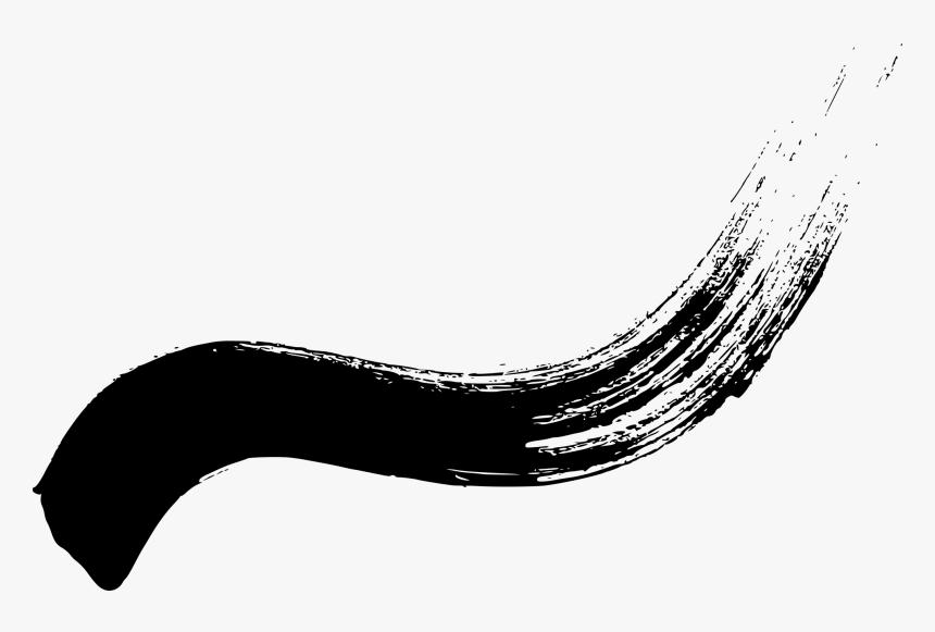 Curved Brush Stroke Png, Transparent Png, Free Download