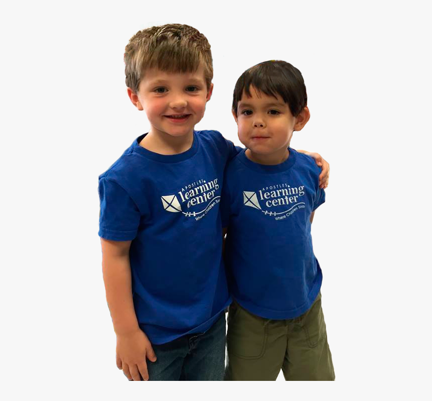 Two Boys Standing Together Apostles Learning Center - Boy, HD Png Download, Free Download
