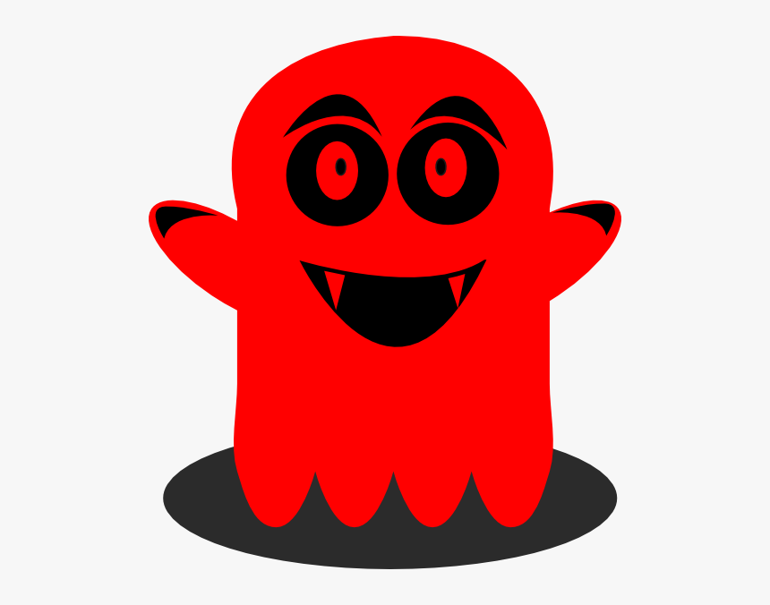Transparent Ghost Face Png - Red Ghost Clipart, Png Download, Free Download