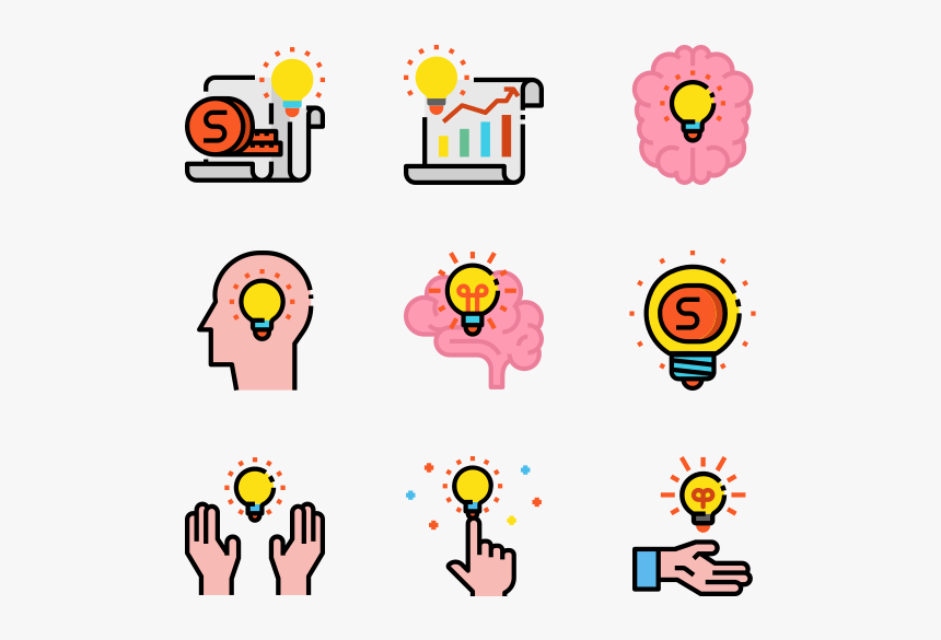 Brainstorming Icons Free Vector Transparent Background