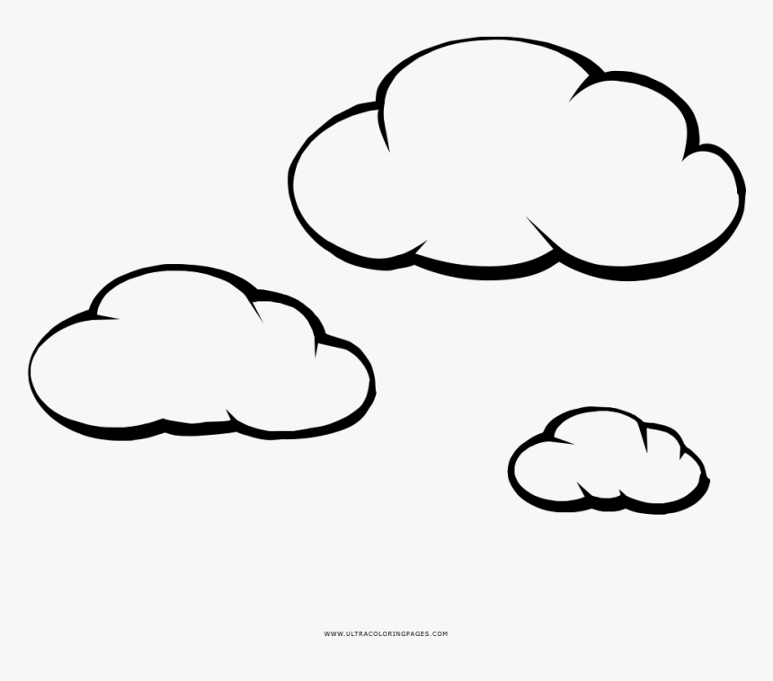 Nuvens Coloring Page - Nuvole Disegno Png, Transparent Png, Free Download