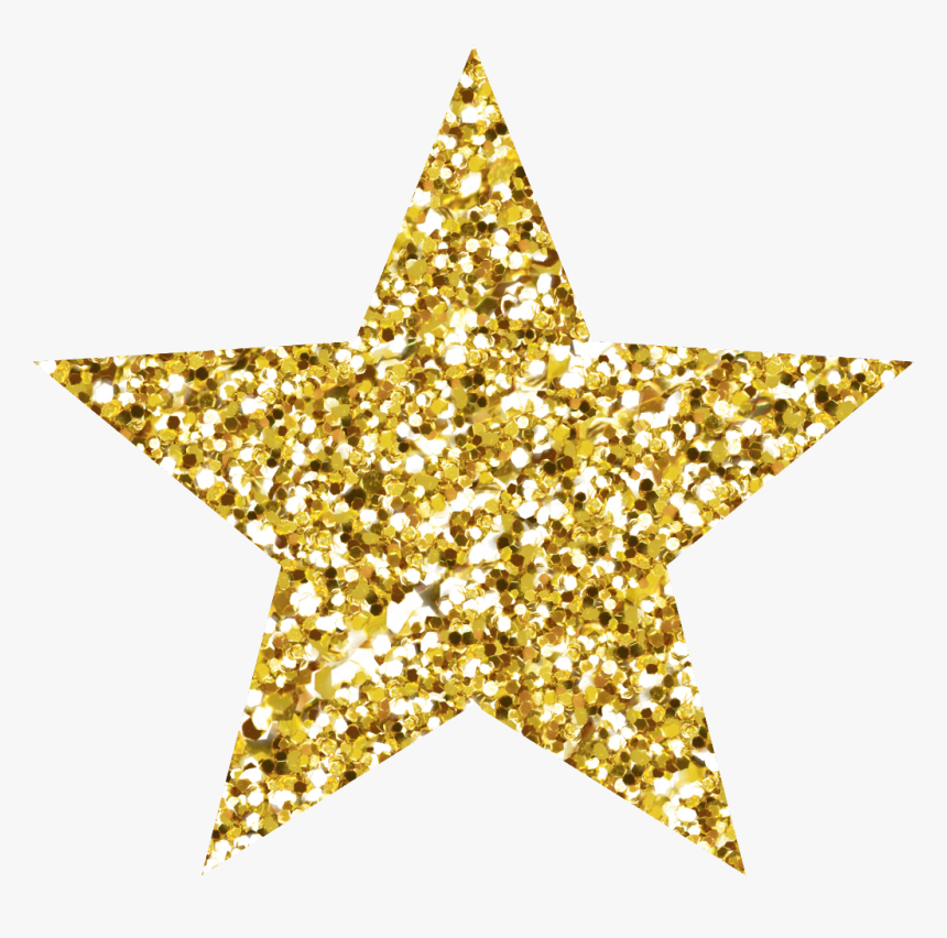 Gold Star Clipart Glitter - Gold Glitter Star Png, Transparent Png, Free Download