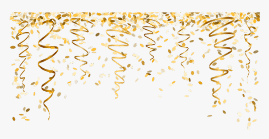 Nye Newyearseve Ftestickers Gold - Gold Confetti Png, Transparent Png, Free Download