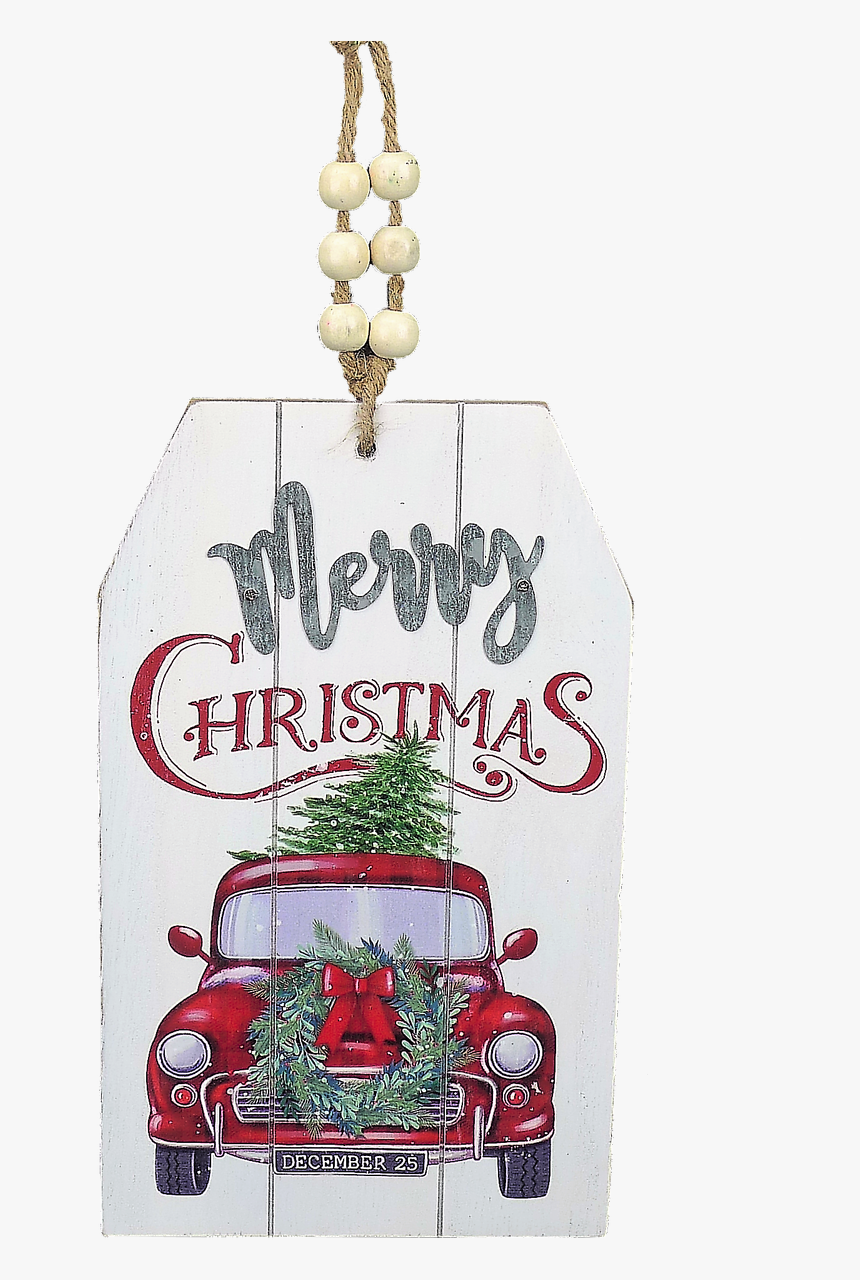 11 Red Truck Christmas Decorations For Sale Online Hd Png Download Kindpng