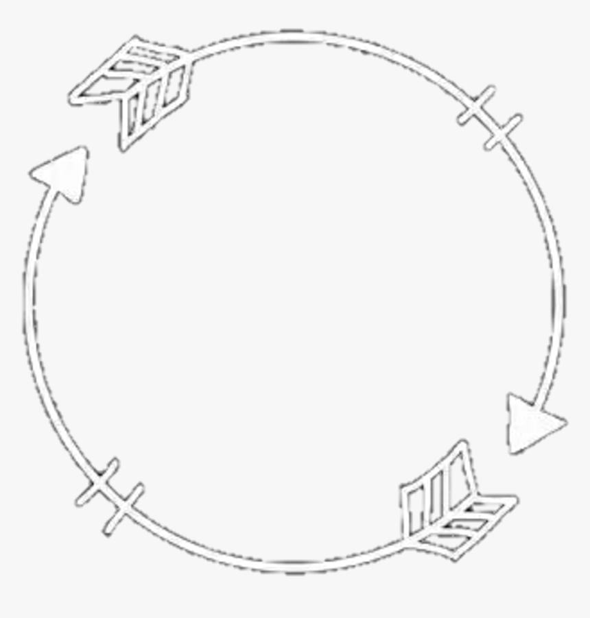 #arrows #frame #circle #aesthetic #freetoedit - Circle Of Arrows Aesthetic, HD Png Download, Free Download