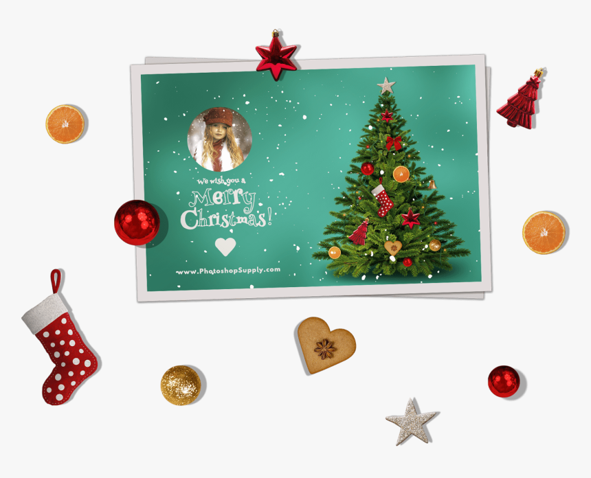 Christmas Photo Cards Templates, HD Png Download, Free Download