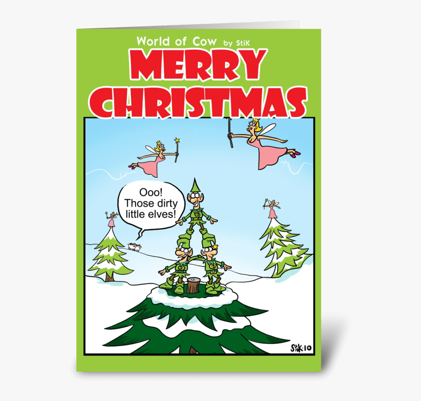 Dirty Little Elves Christmas Card Greeting Card - Dirty Christmas Cards, HD Png Download, Free Download