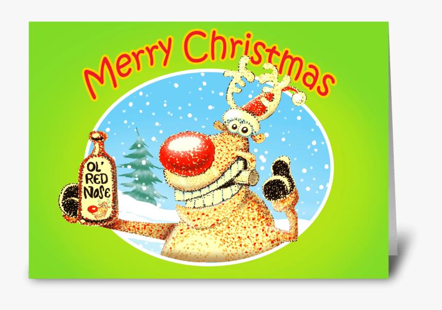 Deer Beer Christmas Card Greeting Card - Christmas Cards Beer, HD Png Download, Free Download