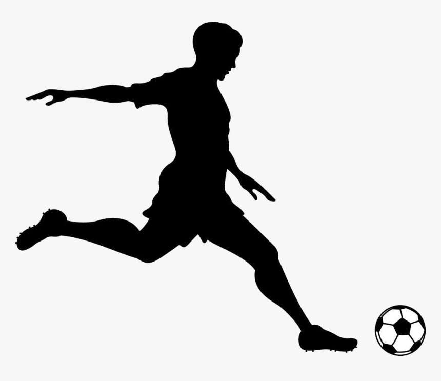 Soccer Ball Clipart Clip Art Transparent Png - Soccer Player Kicking A Ball, Png Download, Free Download