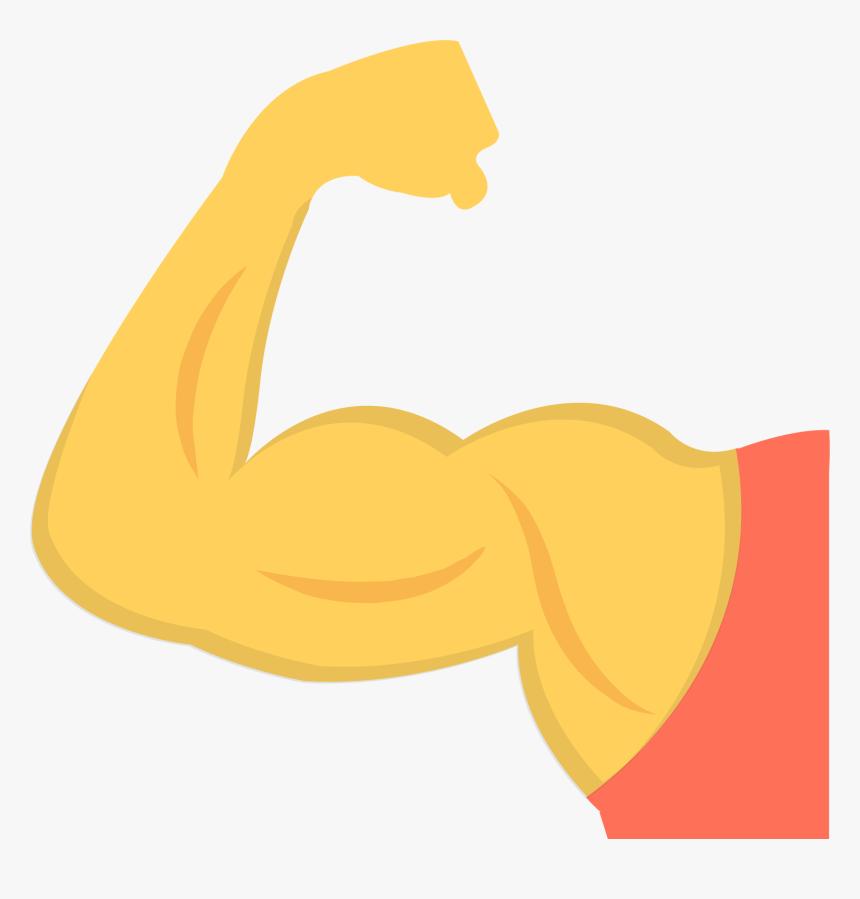 Art - Strong Arm Emoji Transparent, HD Png Download, Free Download