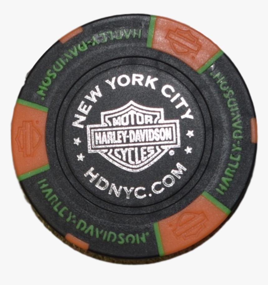 Nyc Black/orange/green Poker Chip - Harley Davidson Poker Chips New York, HD Png Download, Free Download