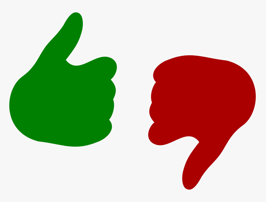 Thumb Up And Down - Thumbs Up And Down Png, Transparent Png, Free Download