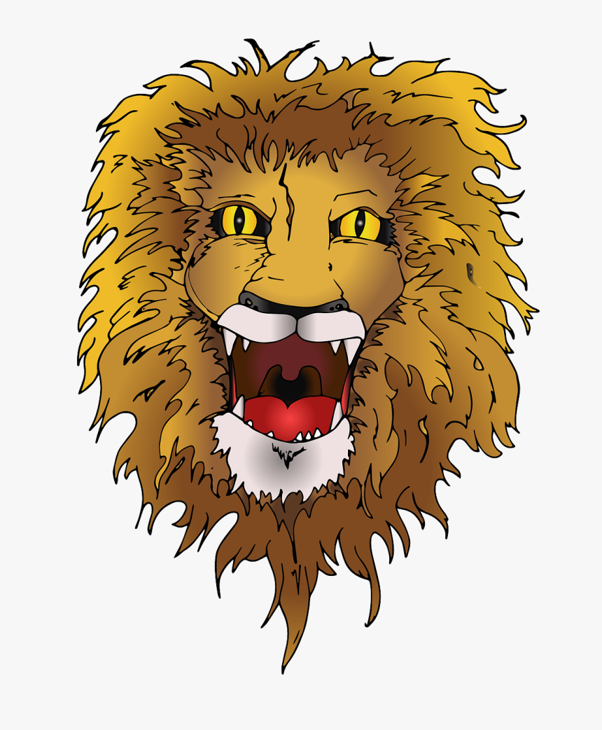 Lion Animal Roar Free Photo - Lion Mane Png, Transparent Png, Free Download