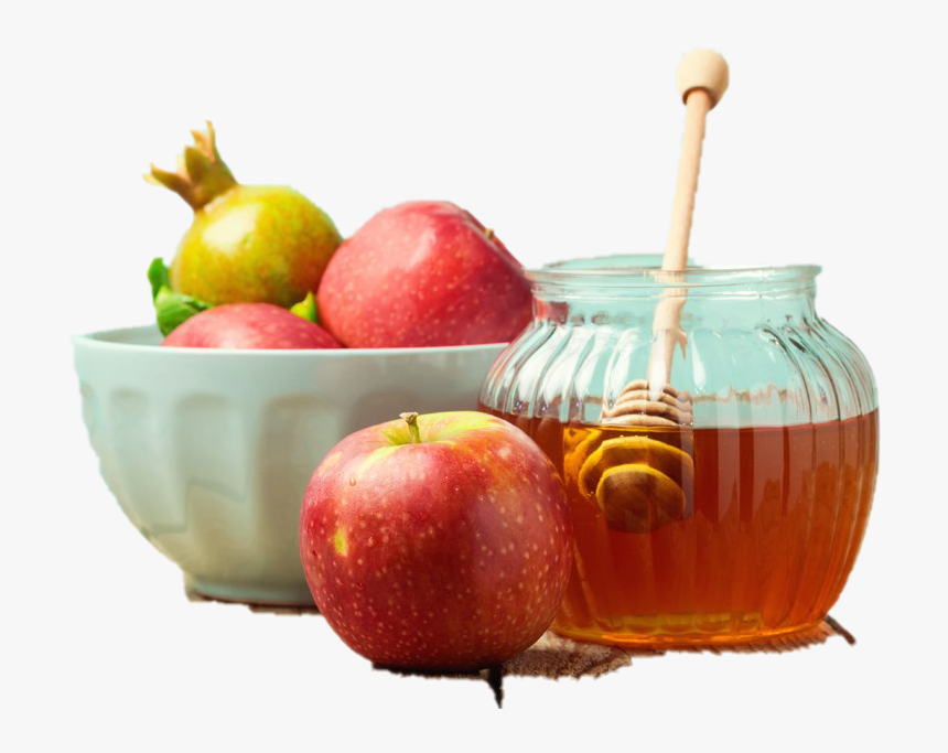 Rosh Hashanah Png Picture - Honey Apple On Table, Transparent Png, Free Download