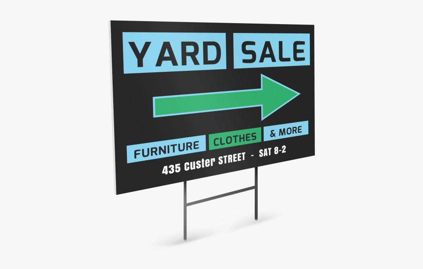 Yard Sale Yard Sign Template Preview - Billboard, HD Png Download, Free Download