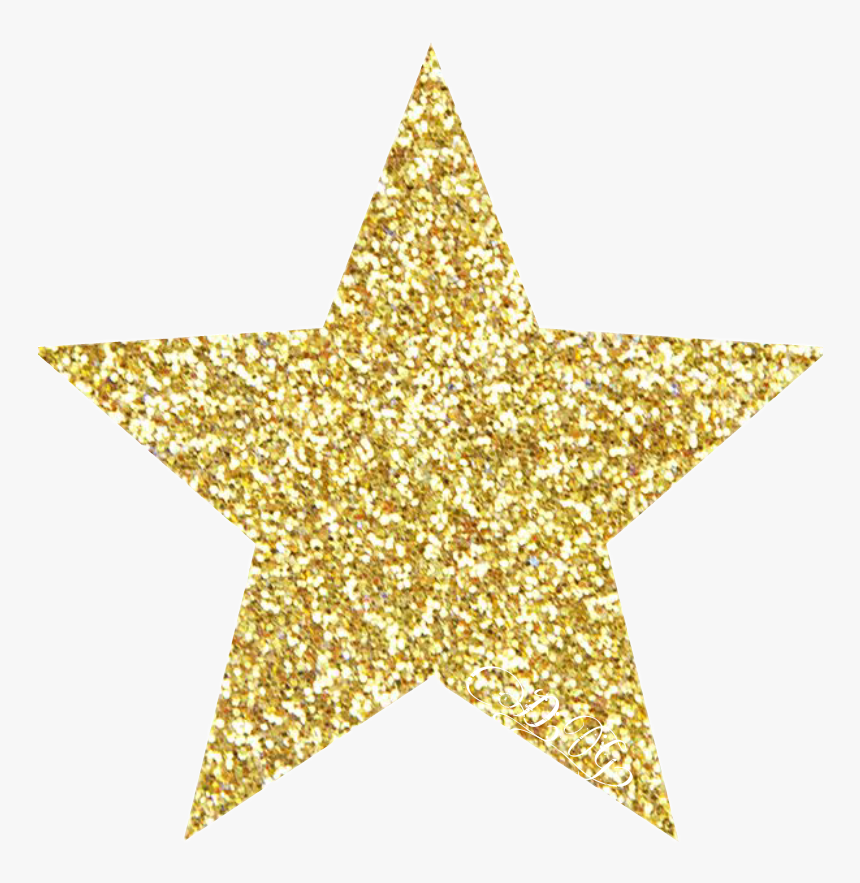 #gold #goldstar #star #glitter #sparkle - Macy's Gift Card Receipt, HD Png Download, Free Download