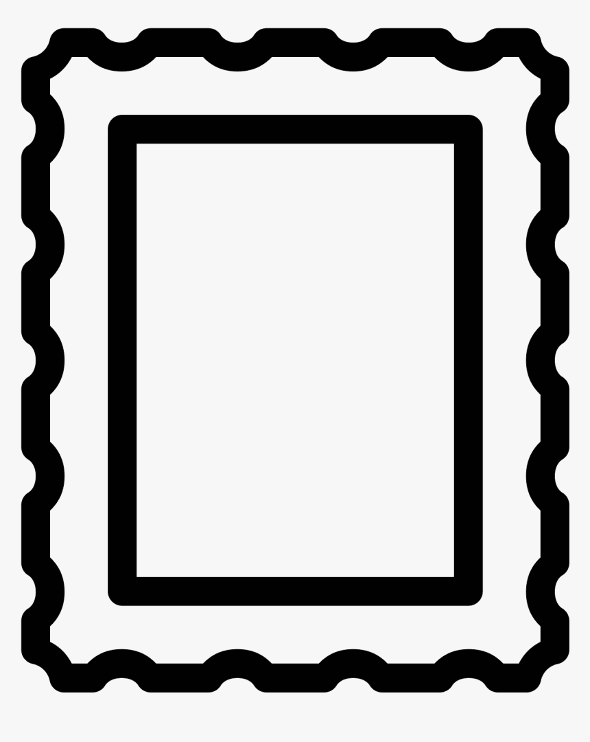 Post Stamp Icon - Picture Frame, HD Png Download, Free Download