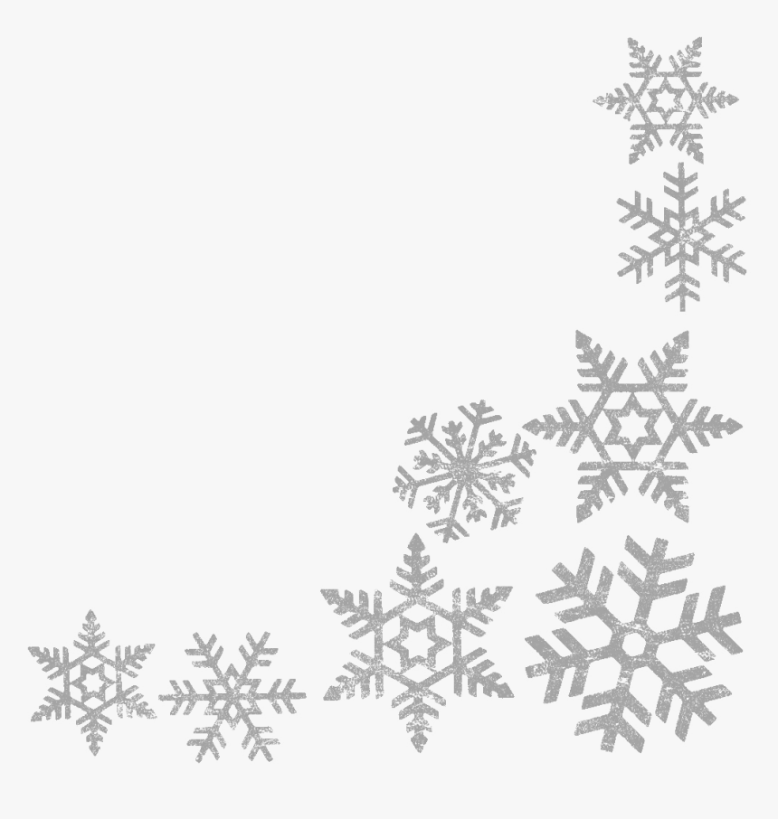 Snowflake Clipart Border Clipartxtras Lime Green Christmas - Transparent Background Snowflake Border, HD Png Download, Free Download