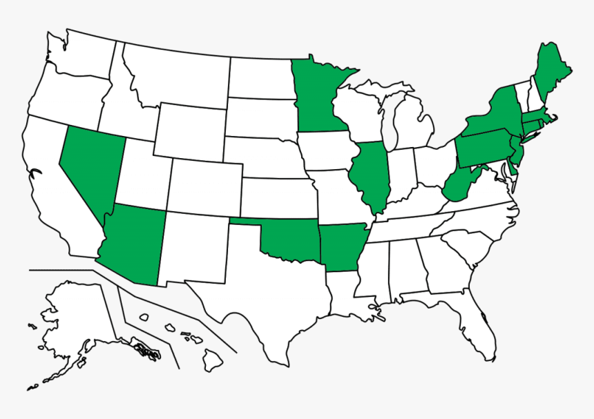 High Resolution Blank Us Map, HD Png Download - kindpng