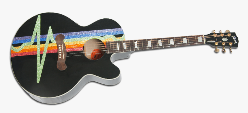 Dark Side Of The Moon Gibson Acoustic By Kantor Guitars - Moon Acoustic Guitars, HD Png Download, Free Download
