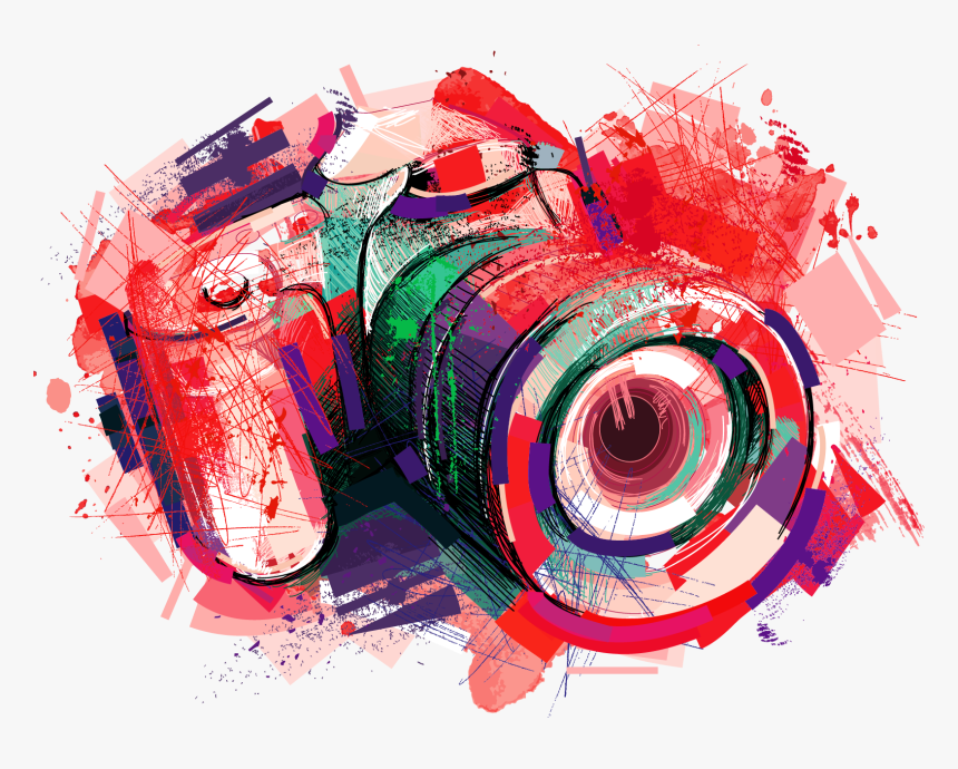 Camera Photography Watercolor Painting Camera Logo Png Colored Transparent Png Kindpng