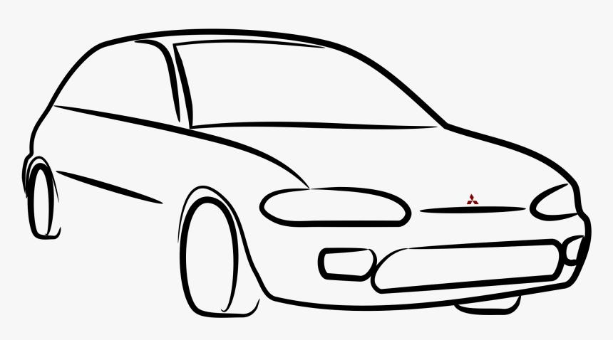Free Download Line Art Clipart Car Clip Art Desenho De Carro Png