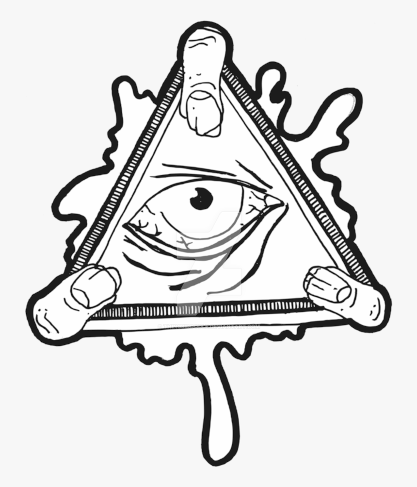 Eye Of Providence Illuminati Sticker Decal Clip Art - All Seeing Eye Transparent Background, HD Png Download, Free Download