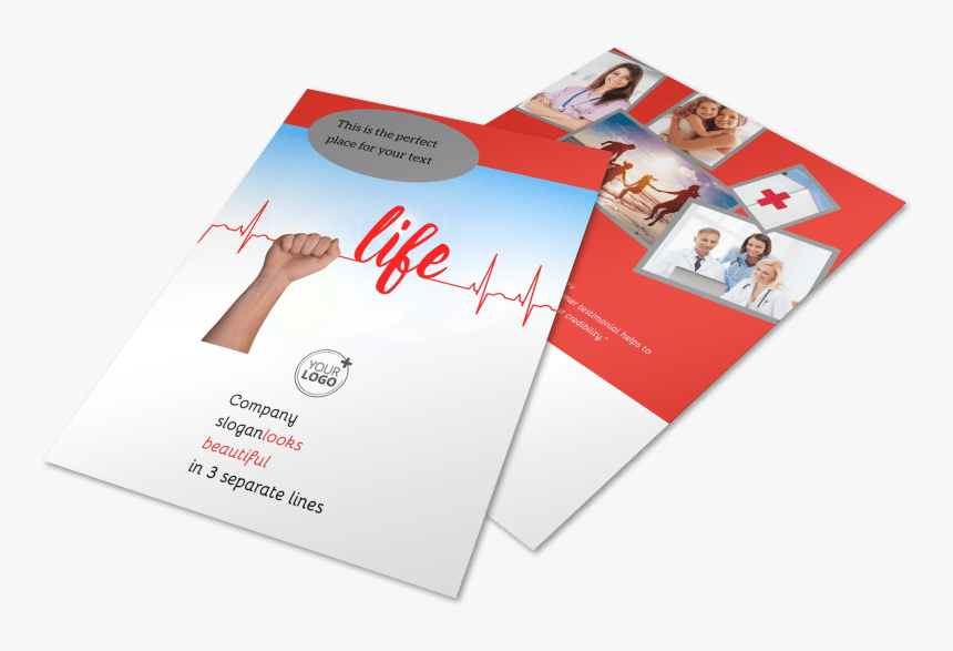 Blood Donation Centers Flyer Template Preview - Flyer, HD Png Download, Free Download
