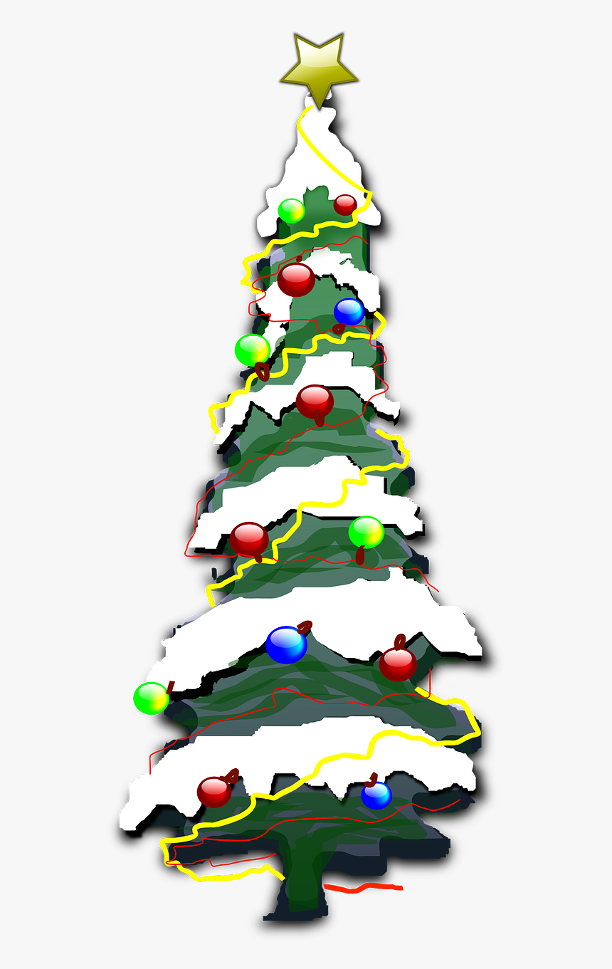 Christmas Tree Clipart With Snow, HD Png Download, Free Download