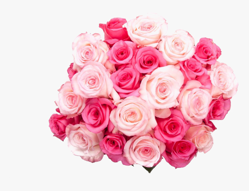 Bouquet Of Birthday Flowers Png Transparent Image - Pink Rose Bucket Png, Png Download, Free Download