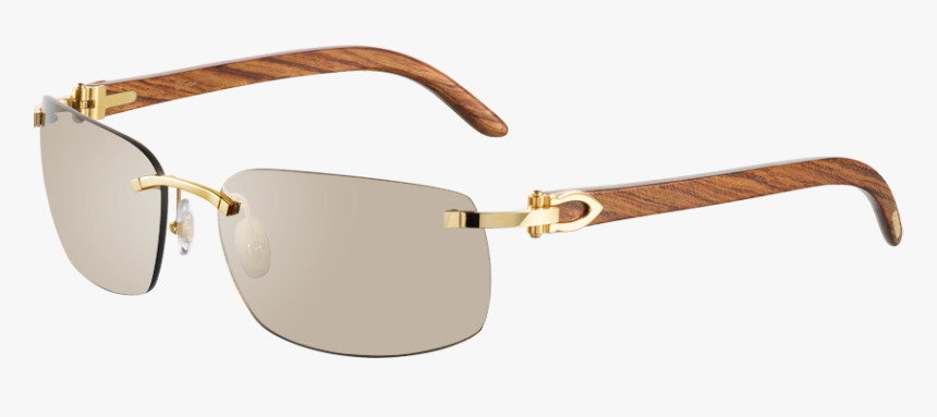 Cartier Glasses Mens Wood, HD Png Download, Free Download