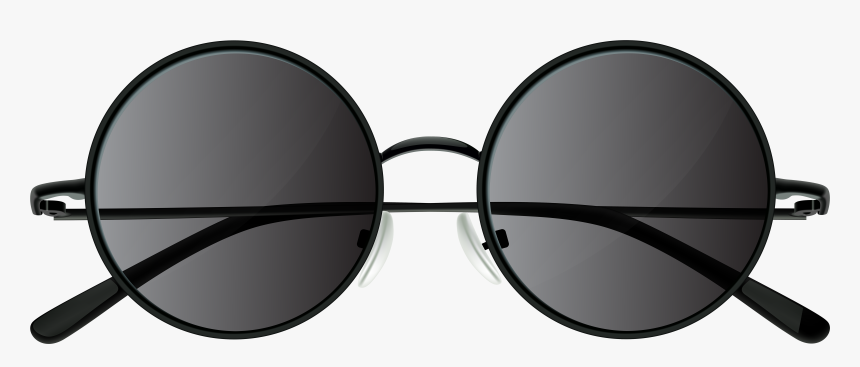 Sunglasses Clipart Round - Black Round Sunglasses Png, Transparent Png, Free Download