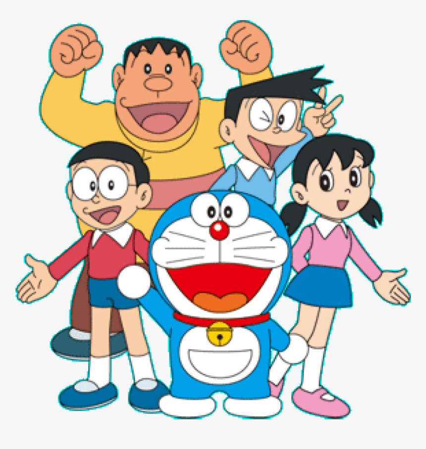 Transparent Friends Png - Doraemon And Friends Drawing, Png Download, Free Download