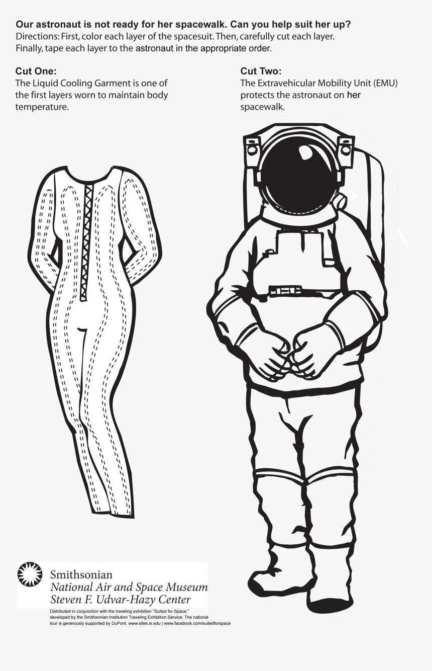 Space Suit Paper Doll, HD Png Download, Free Download