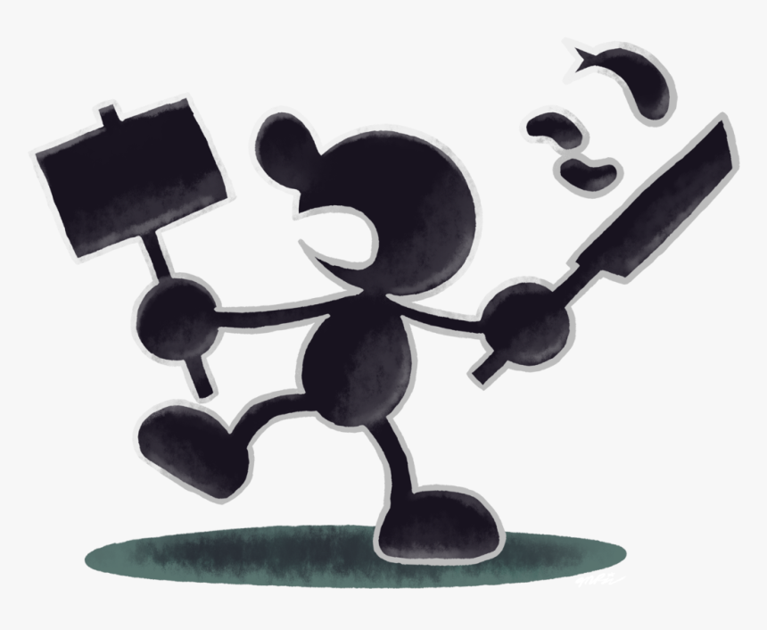 Mr Game And Watch Super Smash Bros, HD Png Download, Free Download