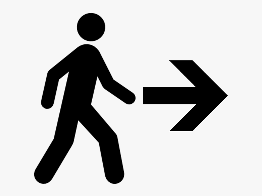 Walking Person Icon Vector, HD Png Download, Free Download