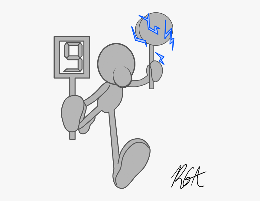 I Decided To Draw Out White/grey Mr - Cartoon, HD Png Download, Free Download