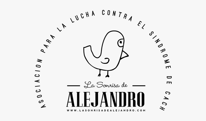 Logo En Blanco Y Negro De La Sonrisa De Alejandro - Line Art, HD Png Download, Free Download