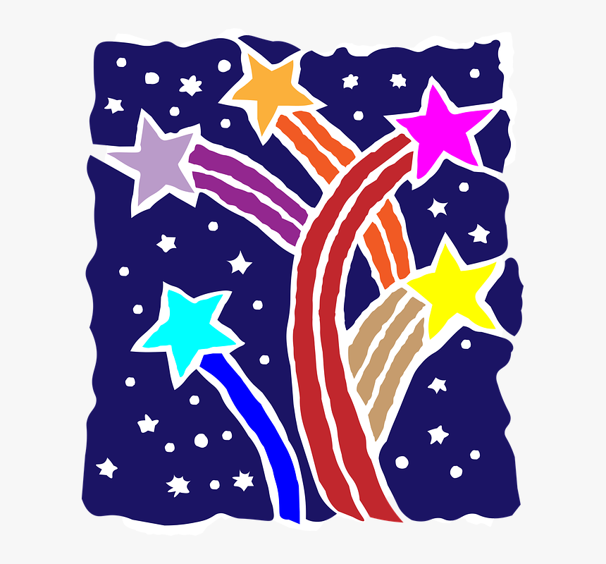 Stars, Colorful, Shooting, Burst, Celebration, Holiday - Stars Burst Png Colorful, Transparent Png, Free Download