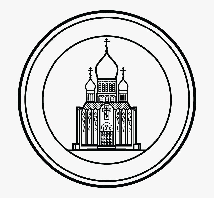 Parish Seal/stamp Design For Landmark, Holy Virgin - Line Art, HD Png Download, Free Download