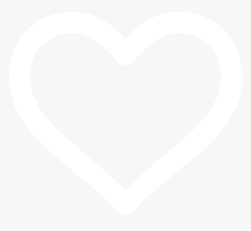 Heart White Outline No Background, HD Png Download, Free Download