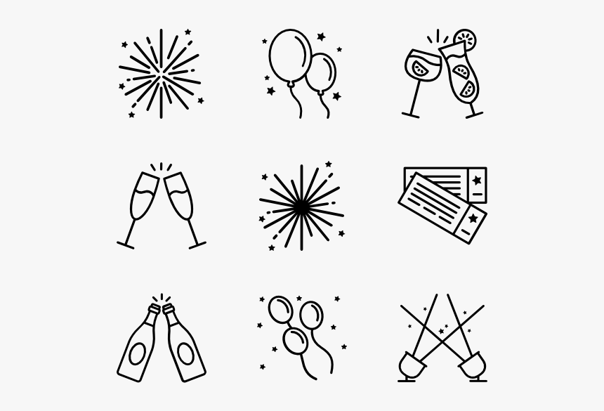 Essential Set New Year Vector Icon Hd Png Download Kindpng