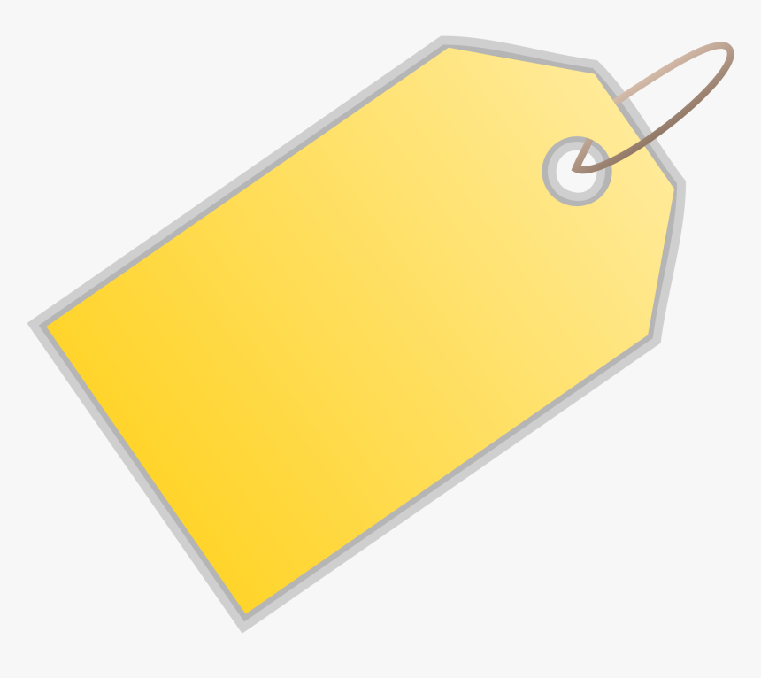 Yellow Blank Price Tag Png - Price Tag, Transparent Png, Free Download