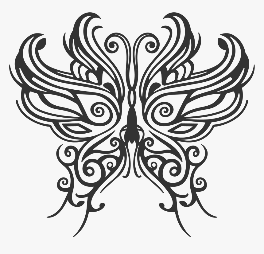 Butterfly Tattoo Png, Transparent Png, Free Download