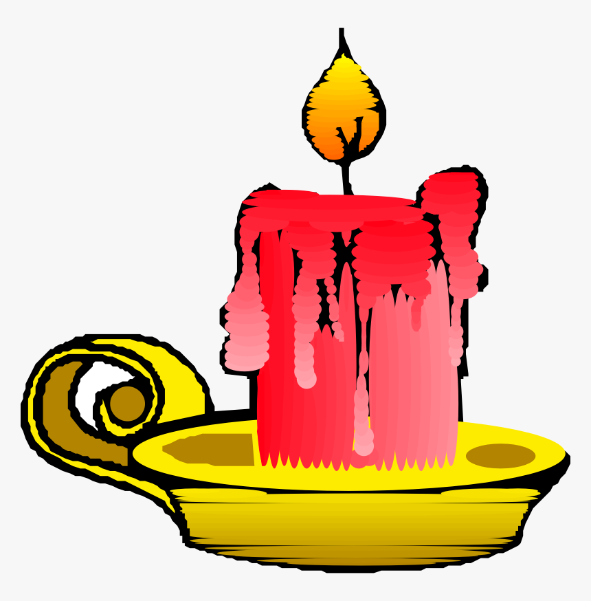 Red Candle Png Clip Arts - Candle Clipart, Transparent Png, Free Download