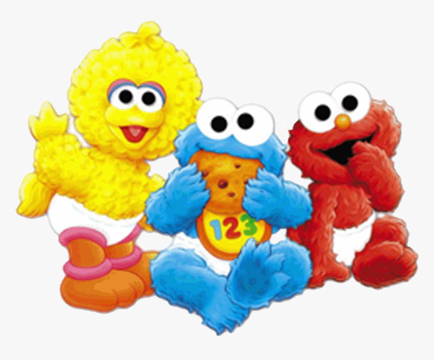 Sesame Street 1st Birthday T Shirt , Transparent Cartoons - Baby Elmo And Cookie Monster, HD Png Download, Free Download