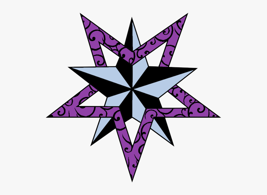 Download Nautical Star Tattoos Png Picture - Drawing Nautical Star Star Designs, Transparent Png, Free Download