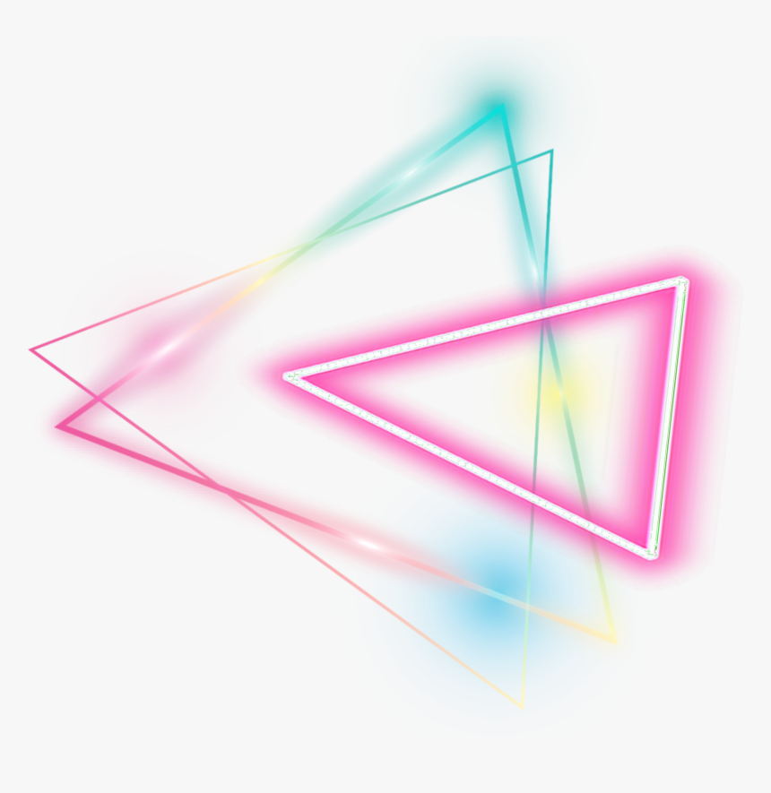 Neon Geomatric Colorful Sticker - Neon Triangle Png Hd, Transparent Png, Free Download